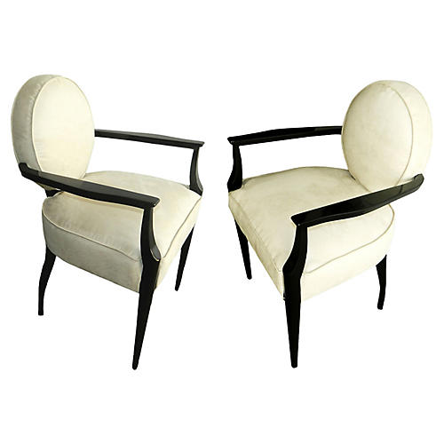 French Armchairs by Dominique, S/2