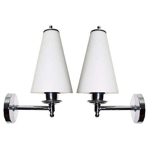 1970s Brossier Saderne Sconces, Pair