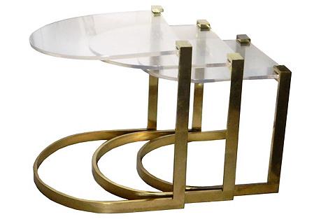 Bronze Nesting Tables, Set of 3