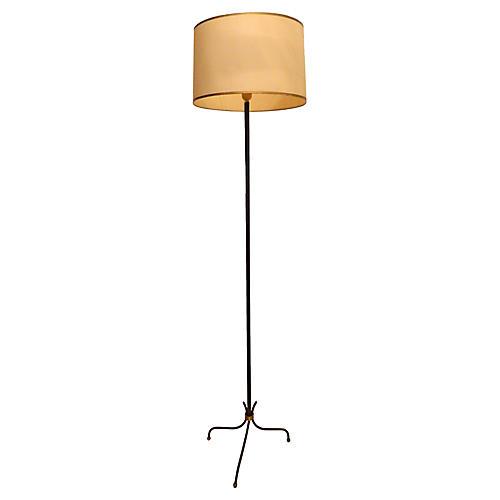 Gariche-Style Floor Lamp, C. 1960