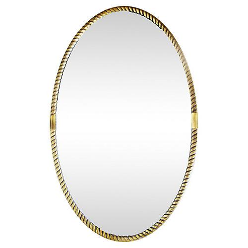 Italian Oval Mirror, 1945