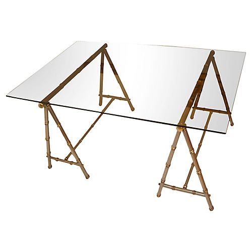 Maison Jansen Sawhorse Coffee Table