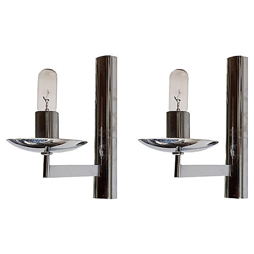 Gaetano Sciolari Sconces, Pair