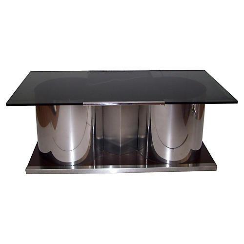 Smoked Glass Bar Table