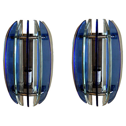Fontana Arte Sconces, Pair