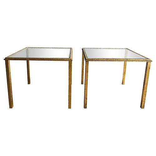 Lancel Gilt-Iron Side Tables, Pair