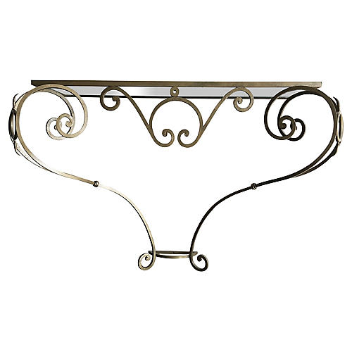 Wrought Iron Console, C.1950