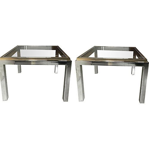 Willy Rizzo Side Tables, Pair