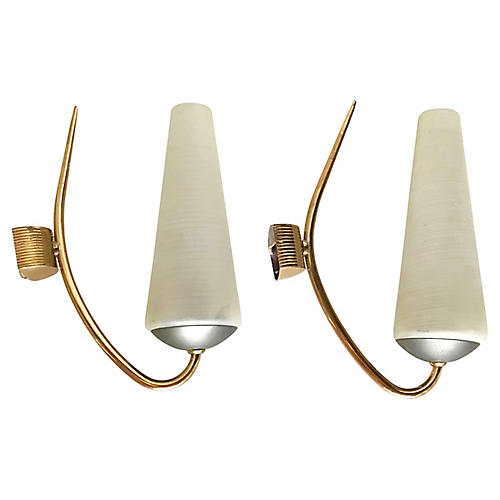 French Lunel Sconces, Pair