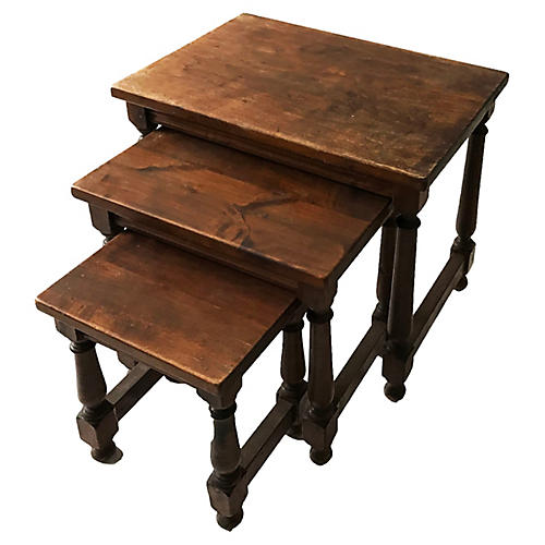 Medieval-Style Nesting Tables, S/3