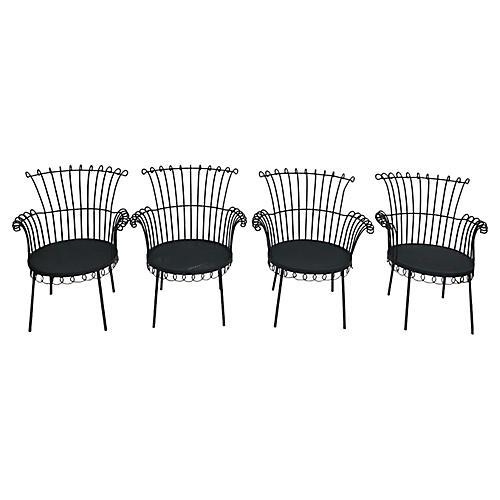 Mathieu Mategot Chairs. Set of 4