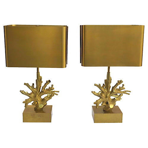 Maison Charles Table Lamps, Pair