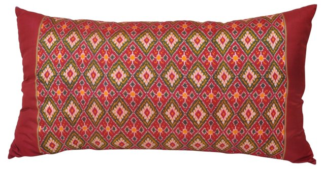 Ikat Silk Body Pillow