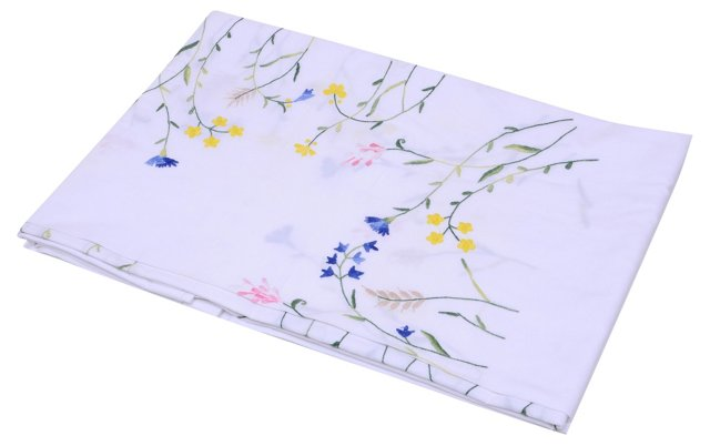 Hand-Embroidered   Bedcover  w/ 2 Shams