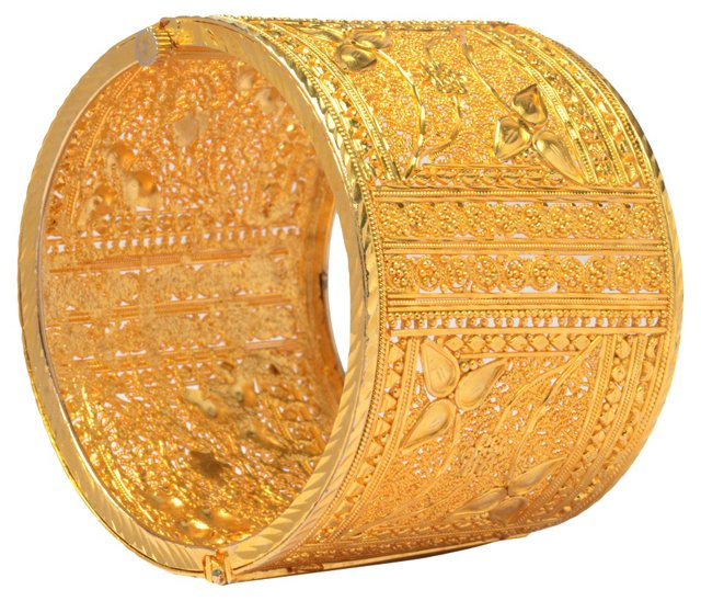 Gold-Plated Filigree Cuff