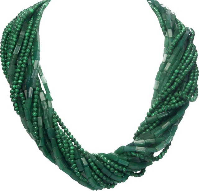 Malachite & Beaded Necklace