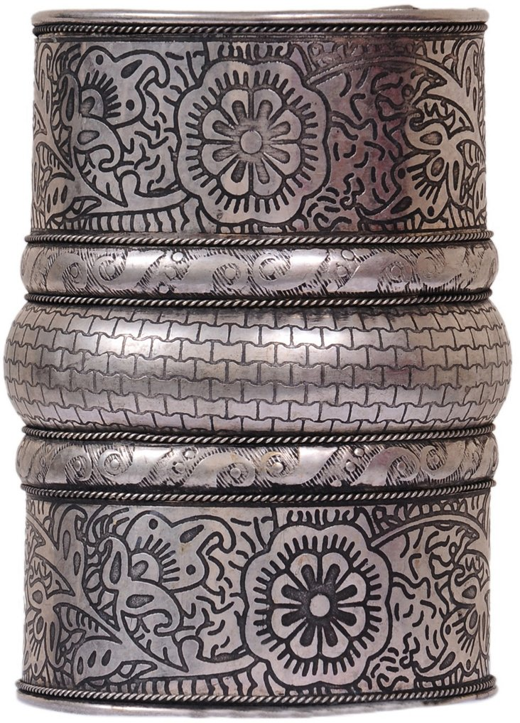 Carved Metal Cuff