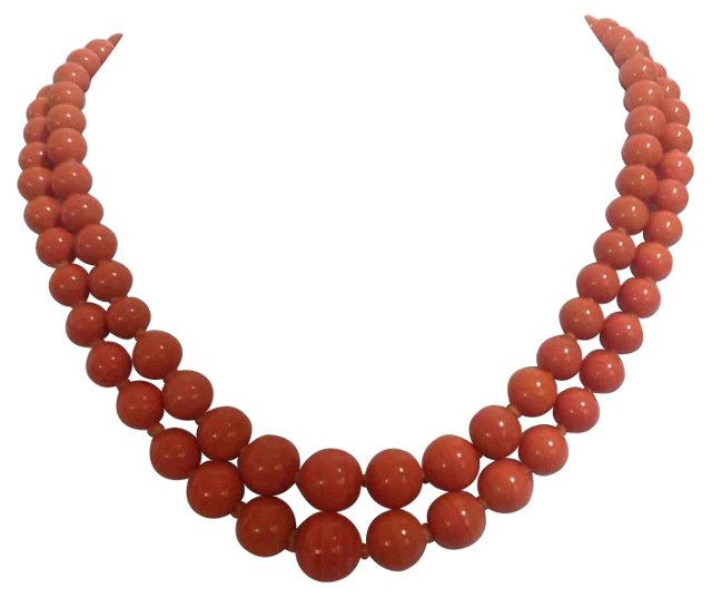 1930s Glass Bead Necklace