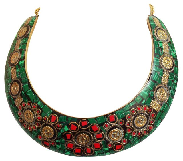 Tribal Mosaic Choker Necklace