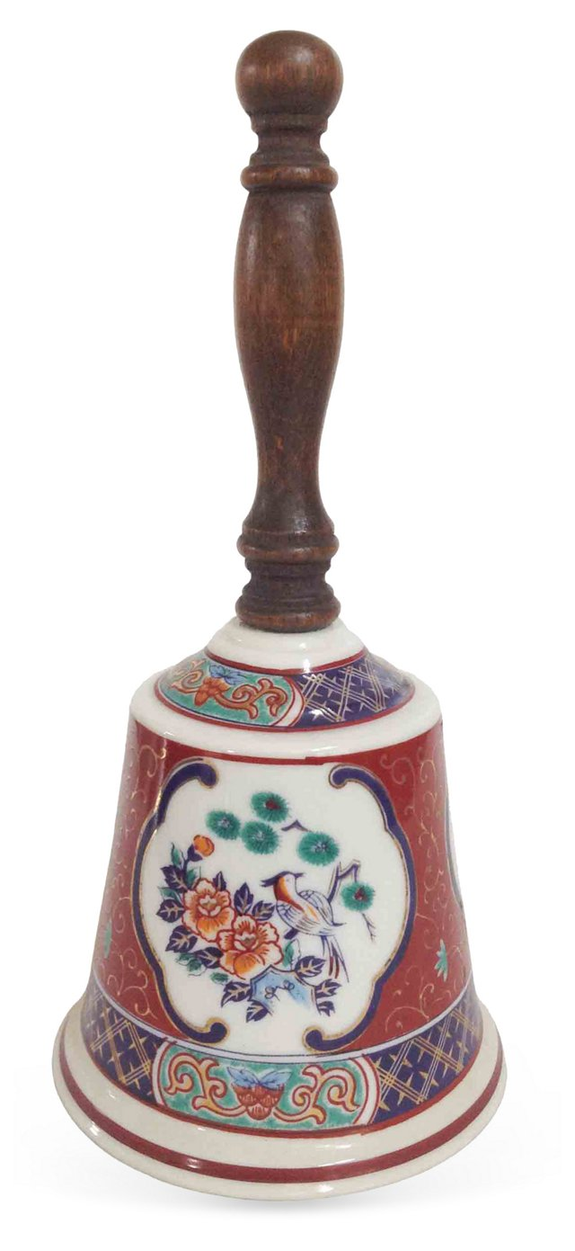 Japanese Hand-Painted Porcelain Bell