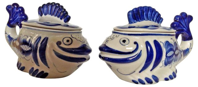 Russian Fish Pots, Pair