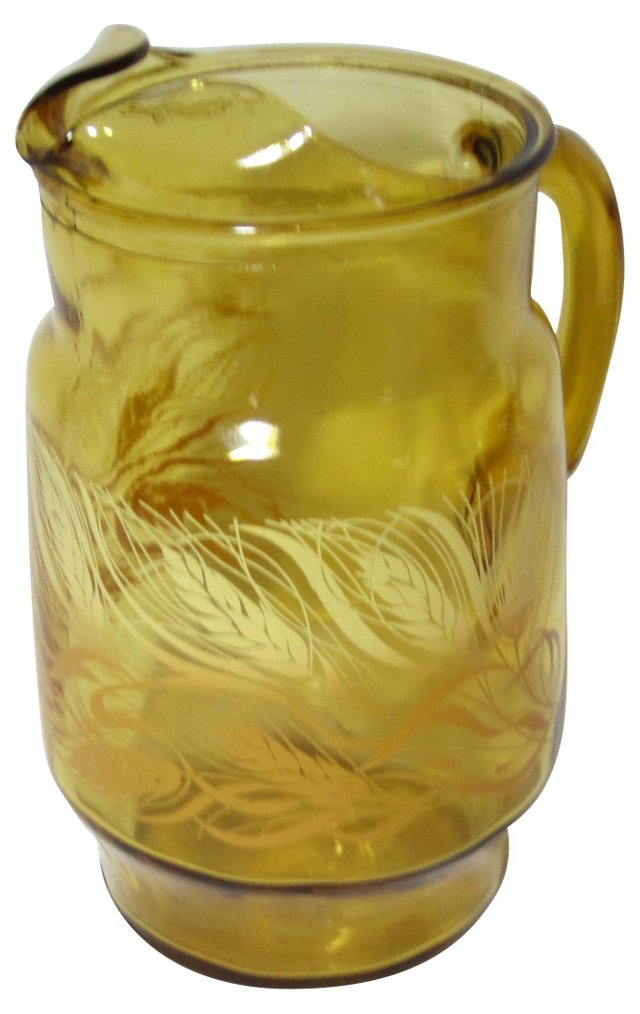 Amber Water Pitcher