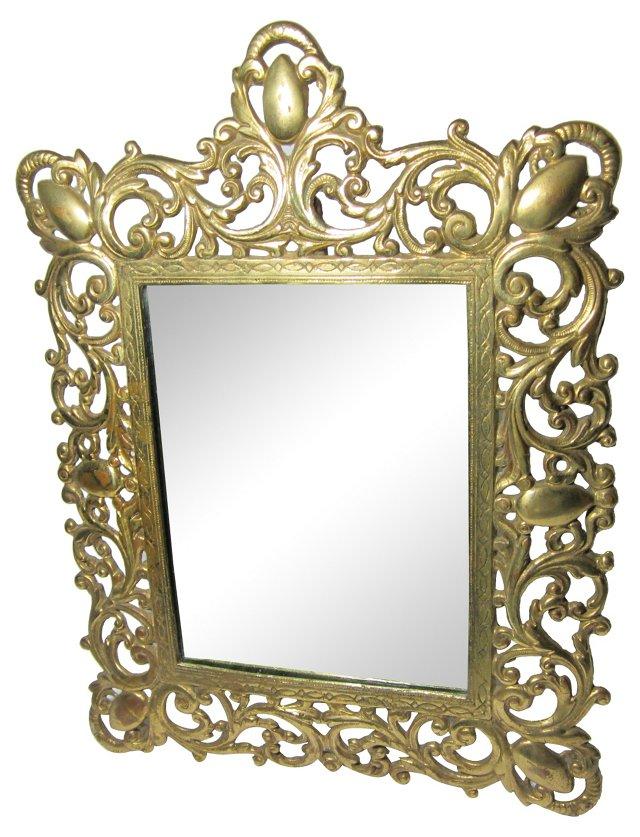 Solid Brass Dresser Mirror