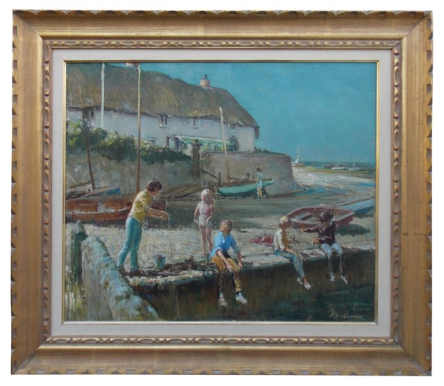The Harbour Wall by Harry Freckleton