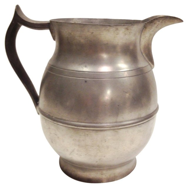 "Large Pewter Pitcher ""Merwin-Wilson Co"""