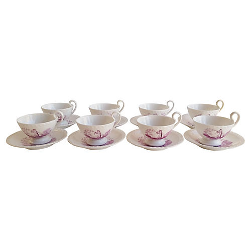 Regency Teacups & Saucers, 16 Pcs
