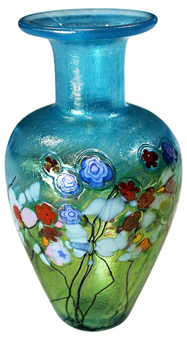 Art Glass Garden Vase