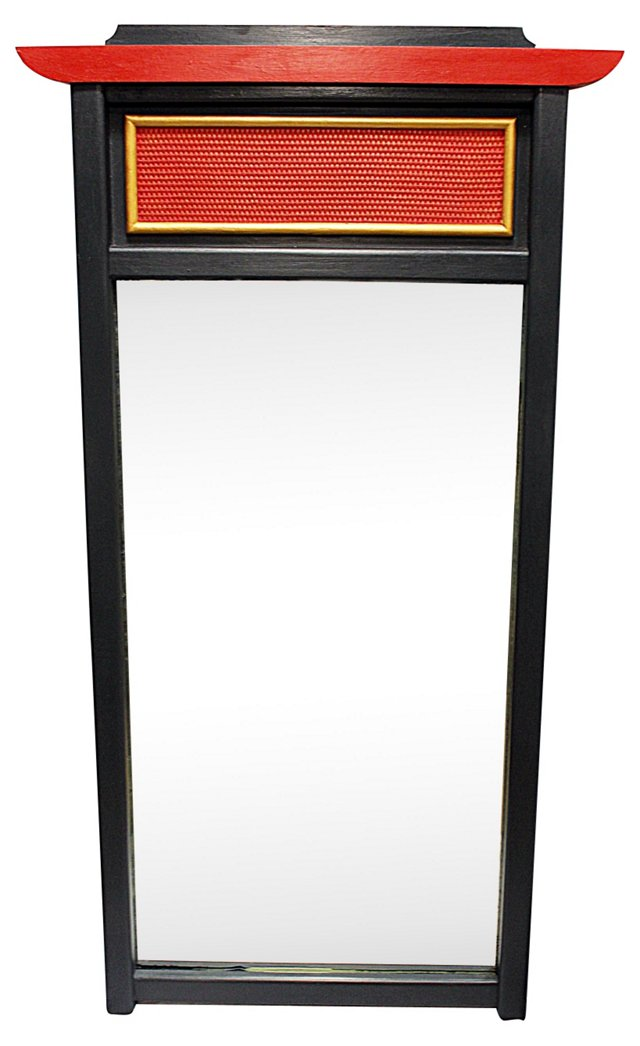 Painted Asian-Style Mirror