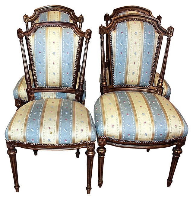 Louis XVI-Style  Chairs, S/4