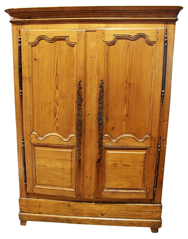 18th-C.  French Pine Armoire