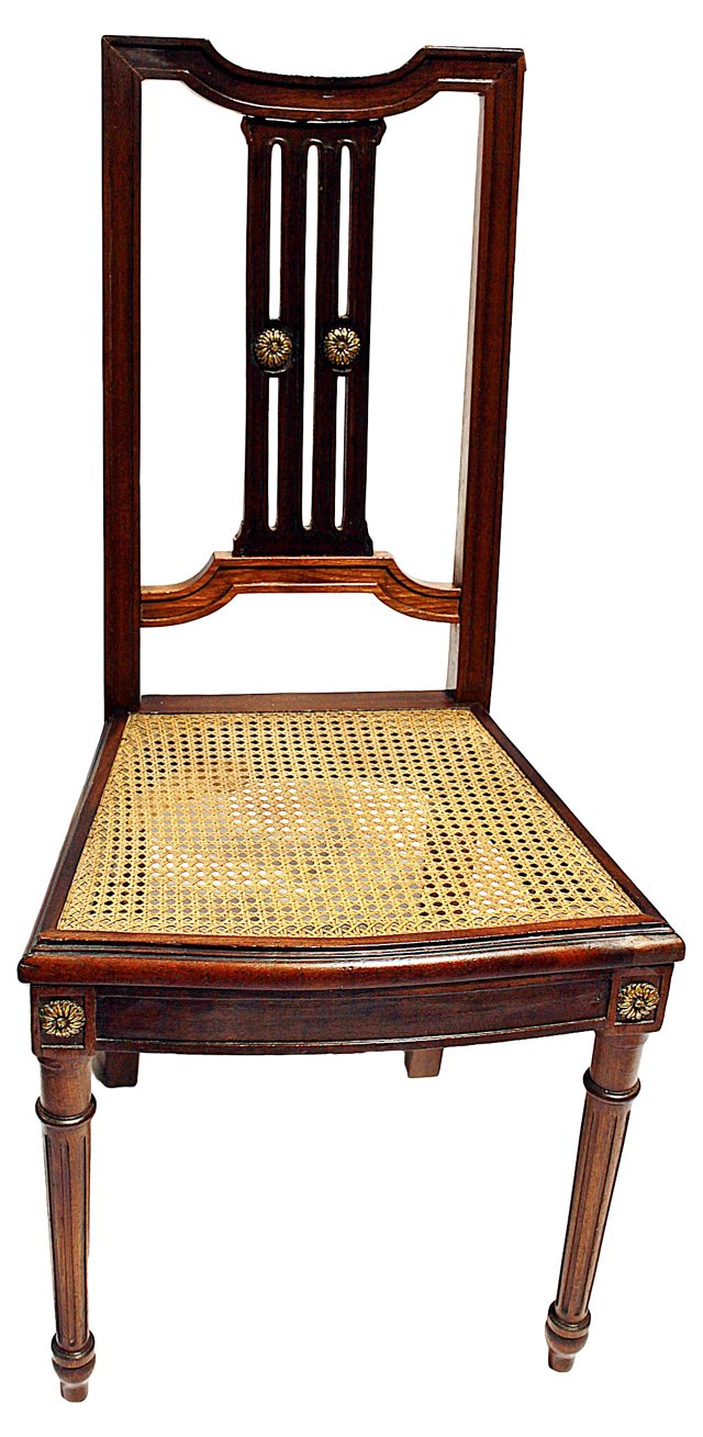 French Louis XVI-Style Caned Side Chair