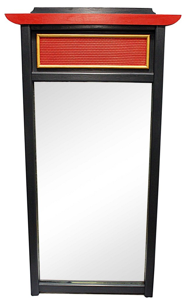 Asian-Style Painted Mirror