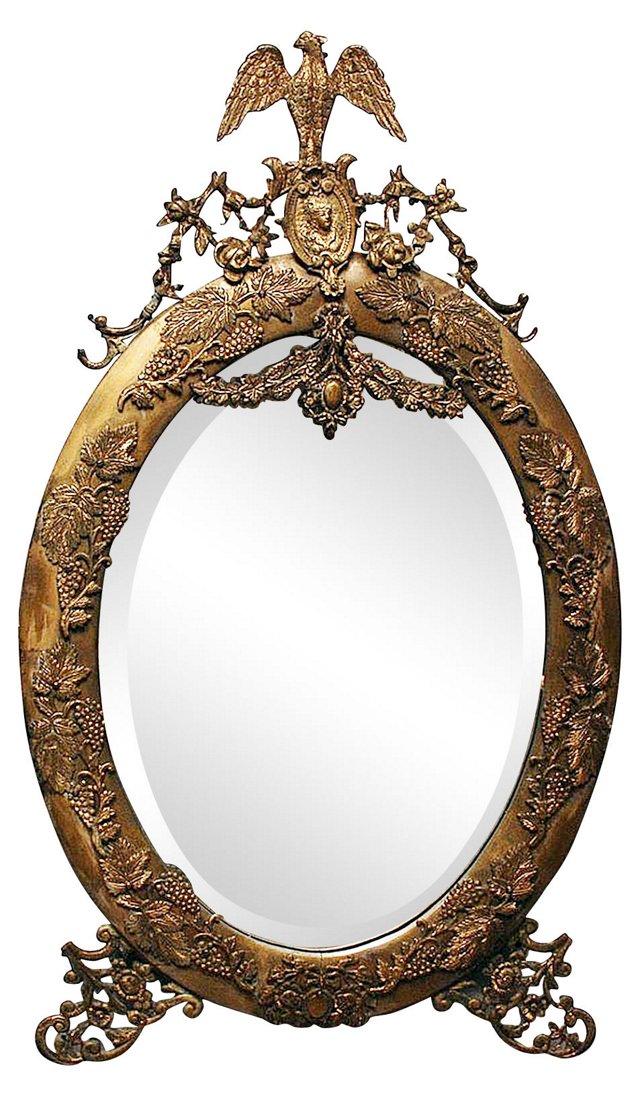 Gilt Oval Federal Mirror