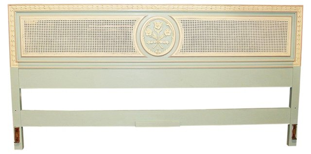 Painted & Caned  Headboard, King