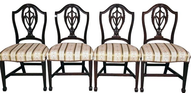 Shield-Back Chairs, Set of 4