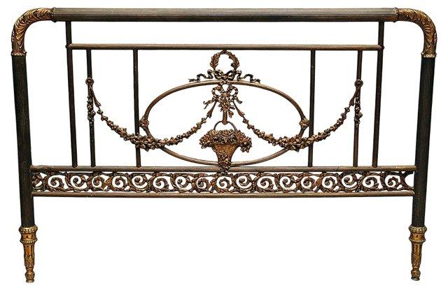 French Brass & Bronze Headboard