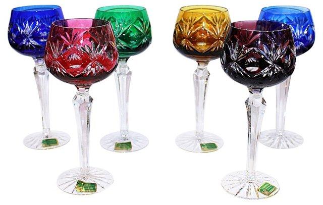 German Wine Goblets, Set of 6