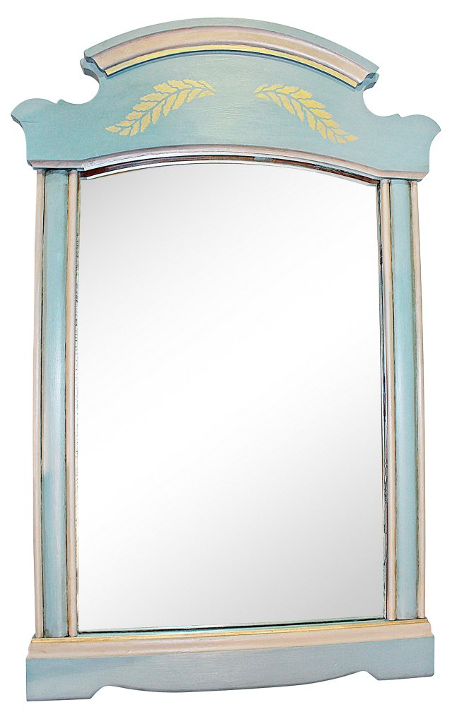 Colonial-Stlye Painted Mirror