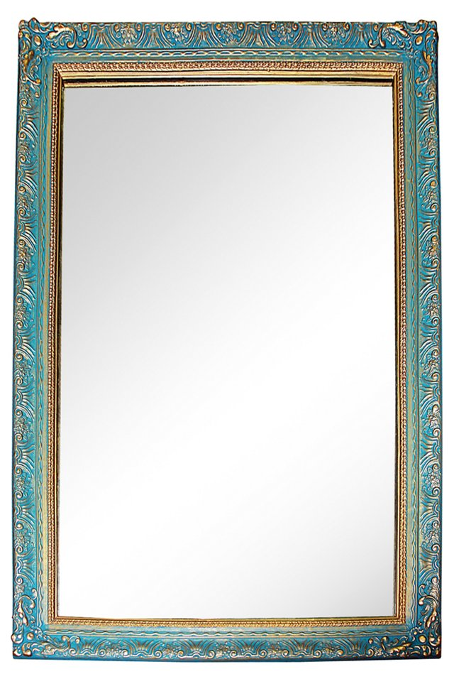 Painted  &  Gilt Mirror