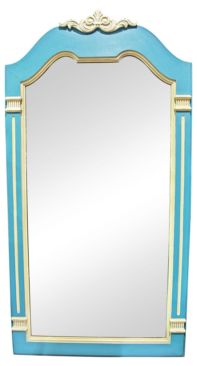 Blue & Gray Painted Mirror