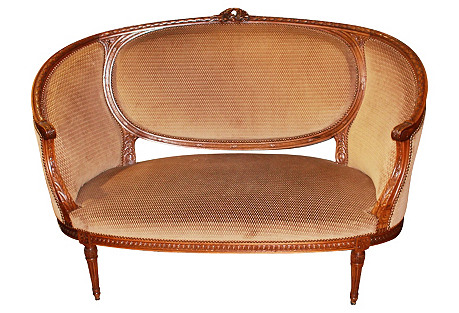 French Antique Louis XVI-Style Loveseat