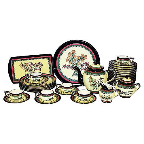 Quimper Tea Set, 35-Pcs