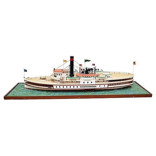 Wood Ticonderoga Ship Model