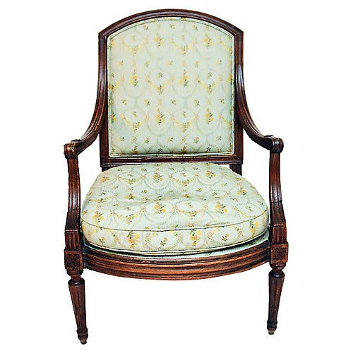 19th-C. French Fauteuil Armchair