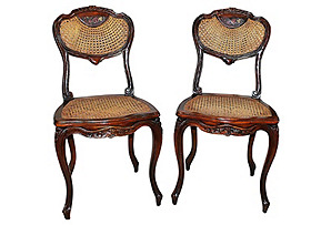 French Caned Chairs, S/2*