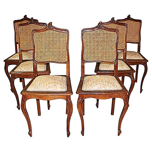 Belgian Dining Chairs, S/6